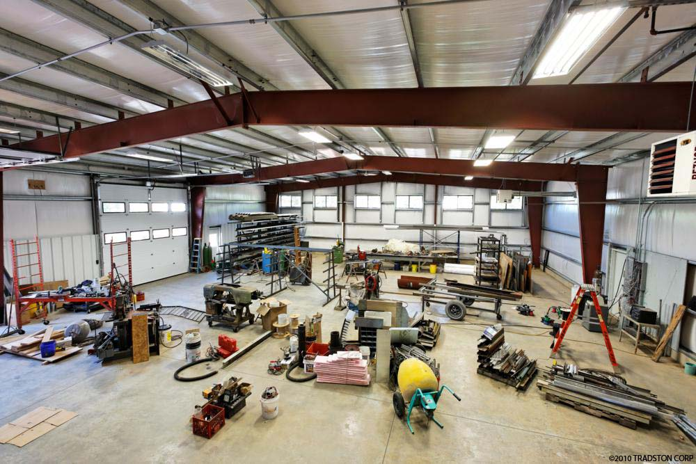 Prefab garage workshops workshop steel buildings metal for Garage building kits canada