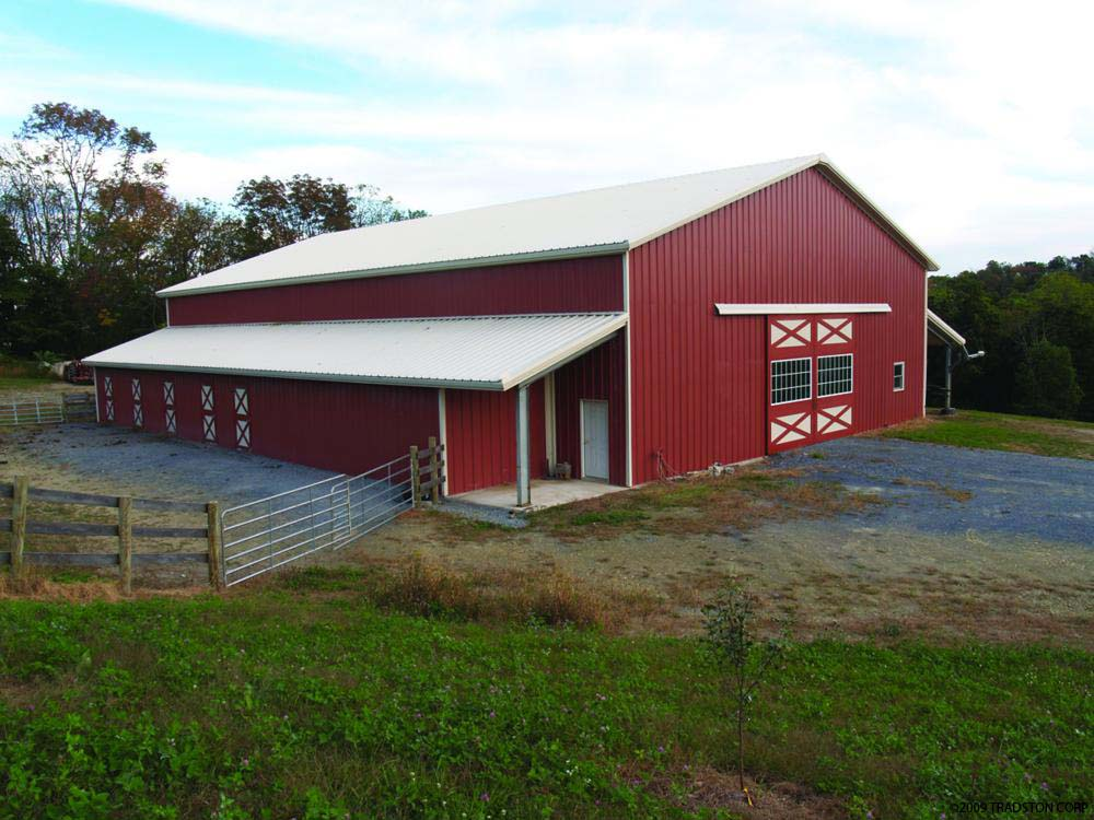 Agricultural steel buildings metal farm buildings pole for Metal barn images