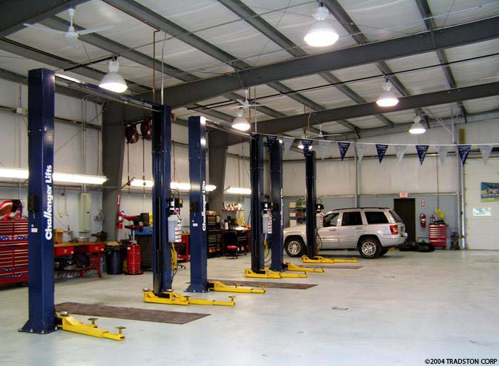 Auto Repair Garage Floor Plans: Car Dealership Buildings, Auto Showroom Steel Buildings