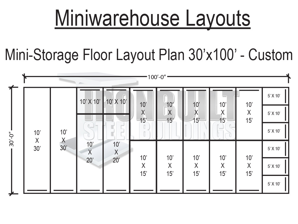 Mini storage buildings self storage buildings free floor for Draw layout warehouse