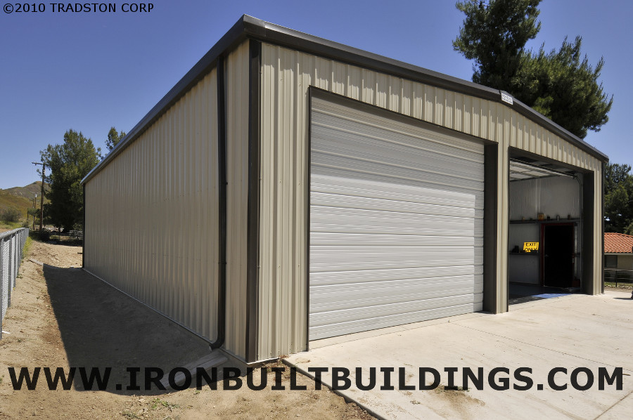 Steel buildings in california prefab metal building kits ca for Prefab garage california