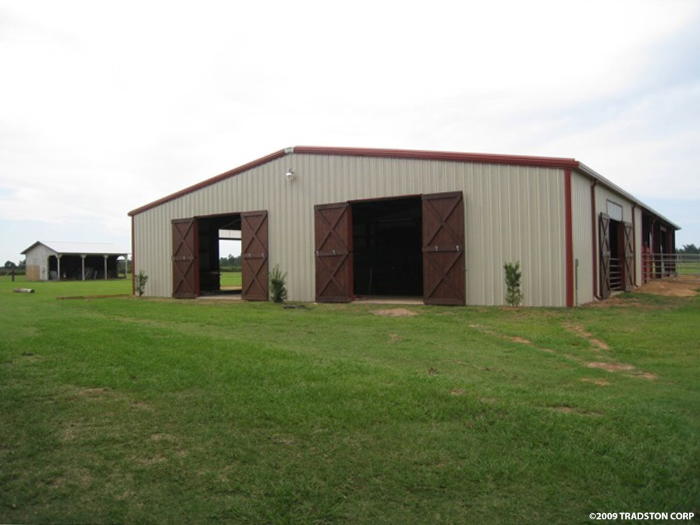 Metal horse barns hose barn kits steel horse barn buildings for Metal barn designs