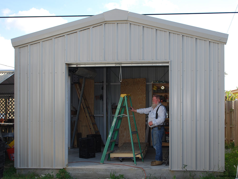 ... Hurricane Resistant Steel Storage Shed