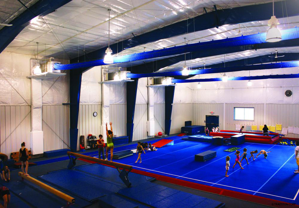 Recreational steel buildings metal gymnasiums sports for Custom basketball court cost