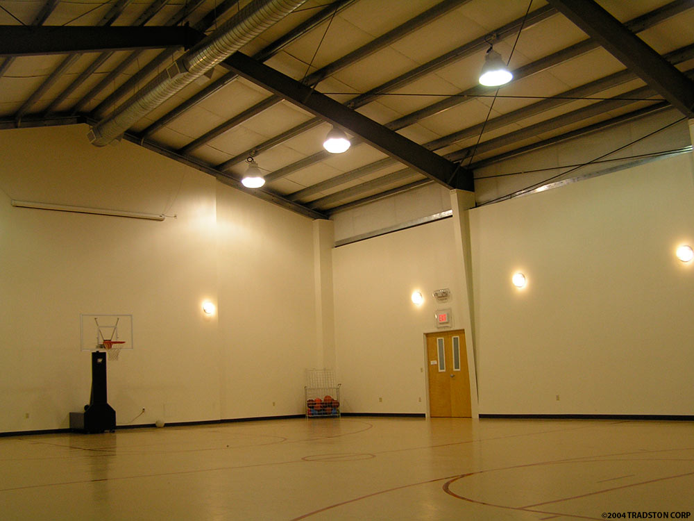 Recreational steel buildings metal gymnasiums sports Indoor basketball court ceiling height