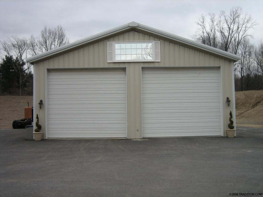 small residential steel building prefab residential garage workshop metal building with car lift