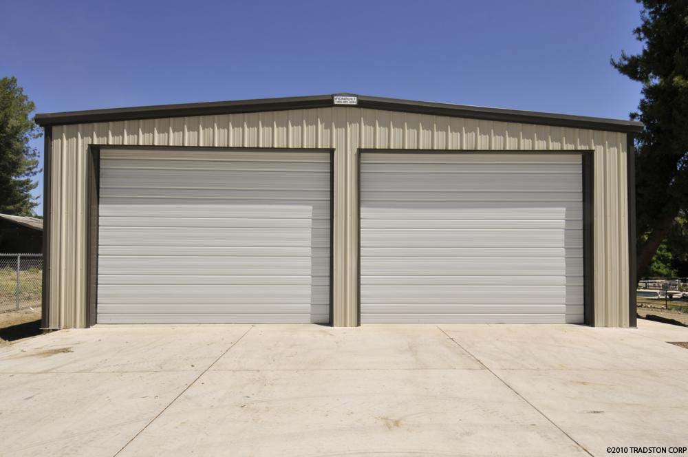 Residential metal buildings steel workshop buildings for Live in garage kits
