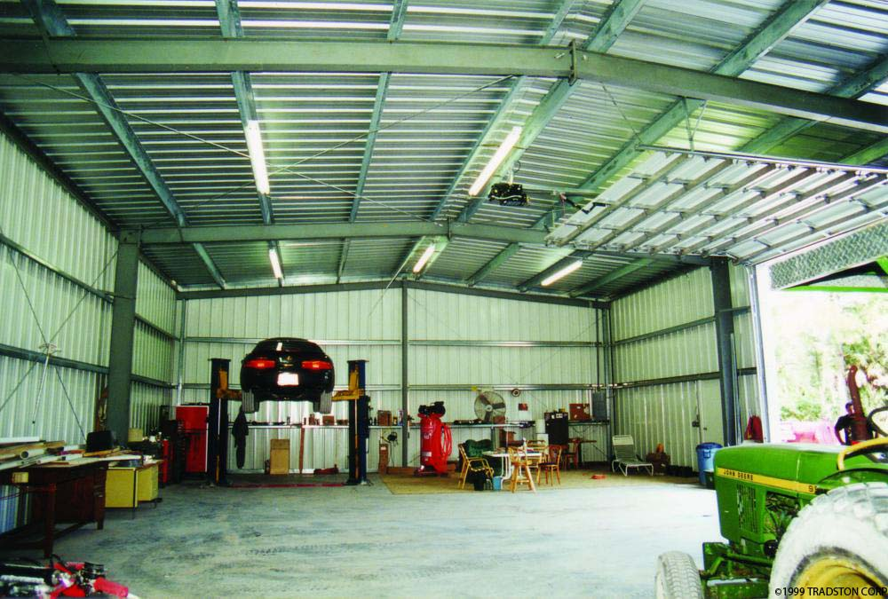 Residential metal buildings steel building homes for Garage building kits canada