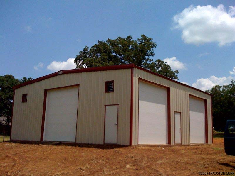 Residential metal buildings steel building homes for Metal building workshop plans