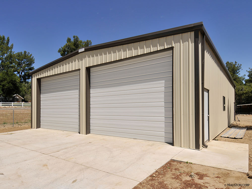 Small industrial metal buildings steel car garage for Garage building kits canada