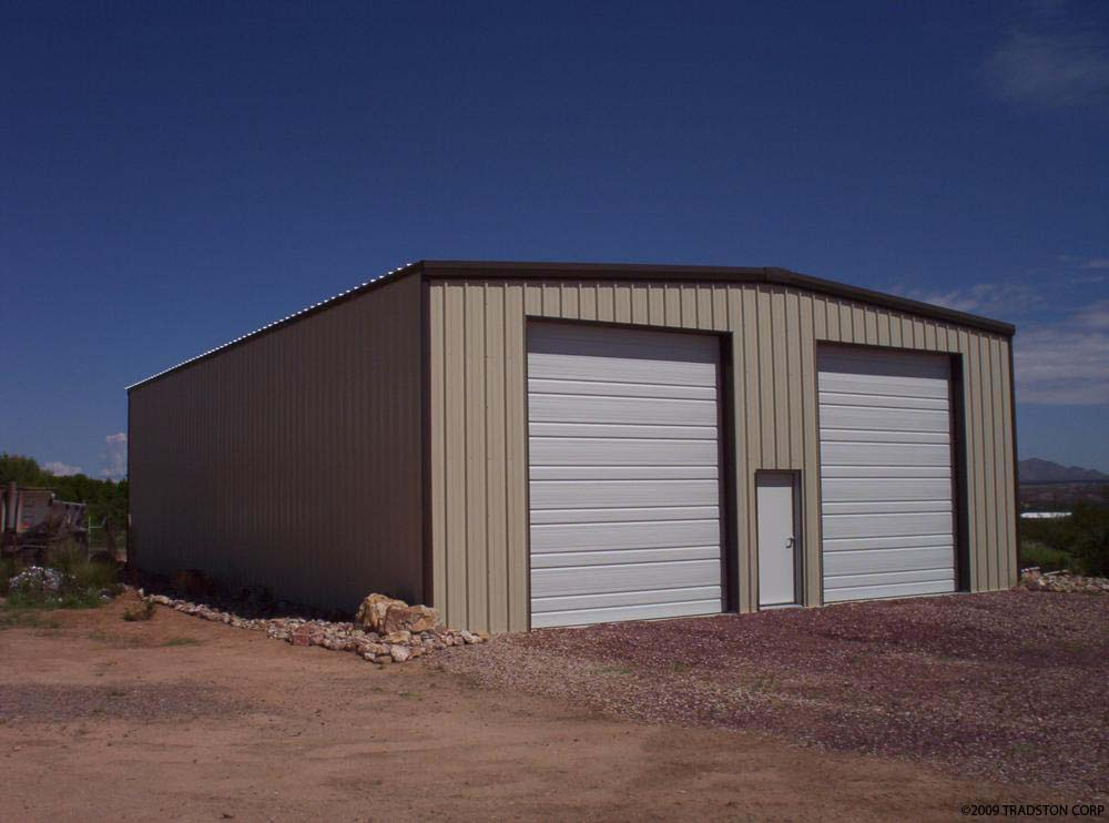 Small industrial metal buildings steel car garage for Small metal barns