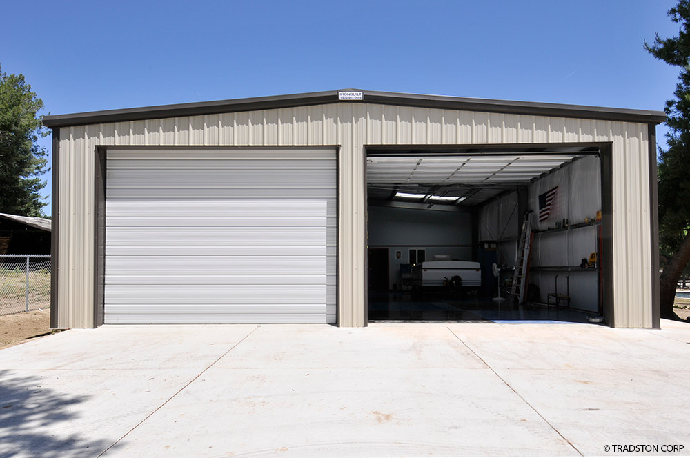Small industrial metal buildings steel car garage for Garage workshop buildings