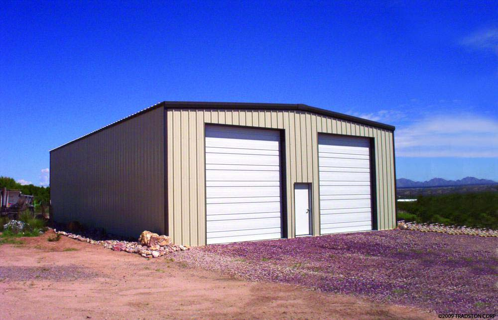 Prefab steel garages metal garage kits steel garage for Garage and shop buildings