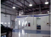 car dealership preengineered building with commercial paint booth