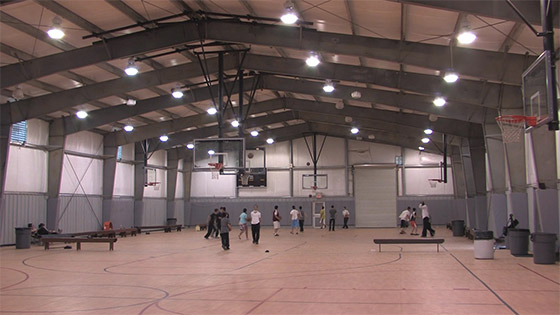 Steel buildings metal building systems testimonials for Building a basketball court