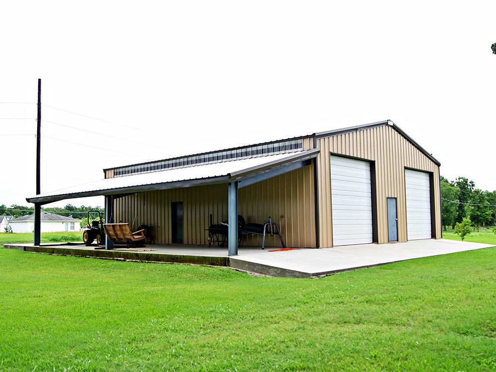 Metal building kit ironbuilt steel buildings for Metal shop house plans