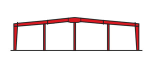 Multi Span Steel Frame Building